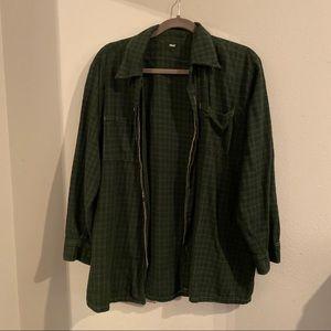 Brandy Melville green oversized plaid flannel